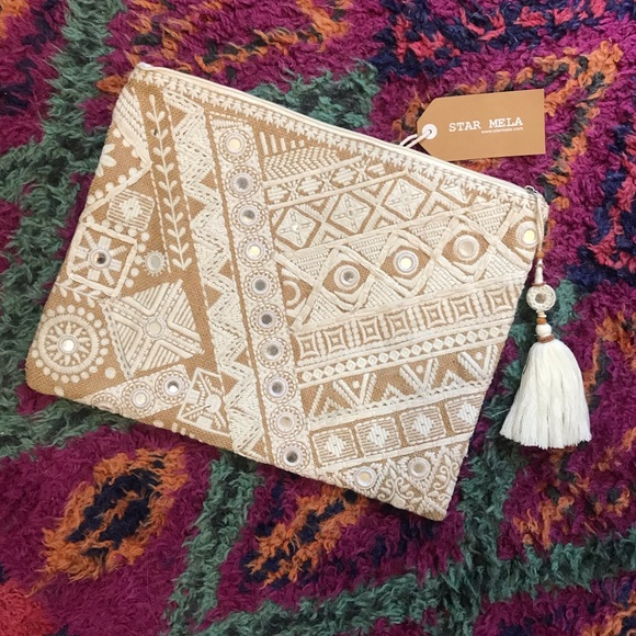 Star Mela Handbags - NWT // Star Mela Handmade Makeup or Laptop Case